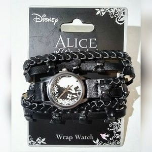 Alice in Wonderland Faux Leather Disney Wrap Watch